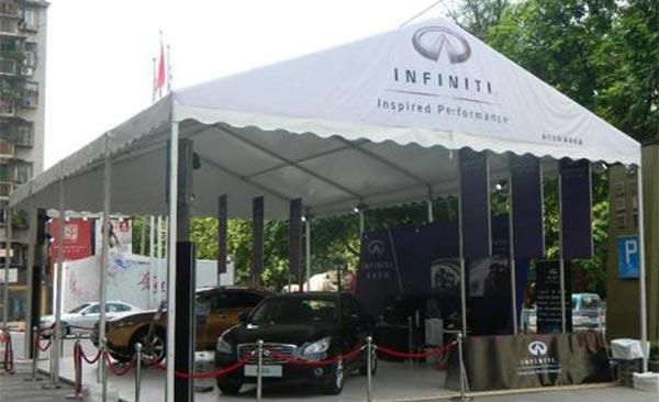 常州创宏搭建的一些汽车展览篷房